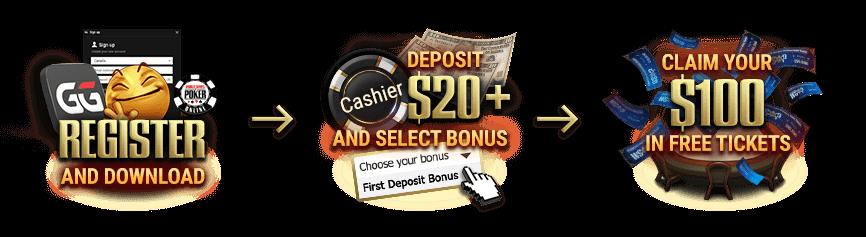 WSOP Welcome Bonus What To Do image